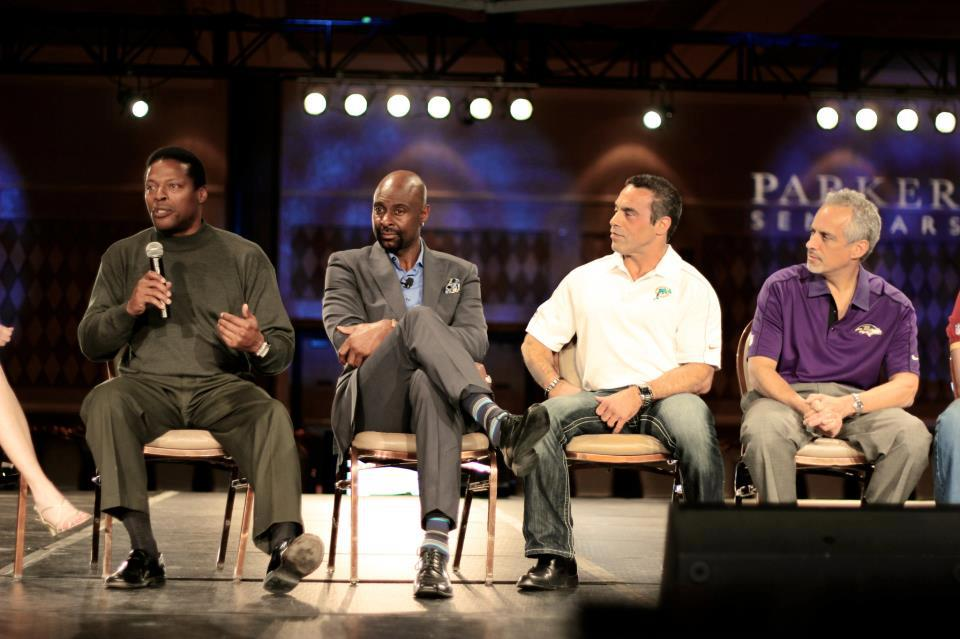 Mark Collins, Jerry Rice, Dr. Spencer Baron, and Dr. Alan Sokoloff